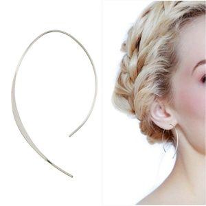 Jewelry - Delicate Silver Open Hoop Earring
